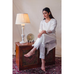 Off-White Tulip Kurta Set