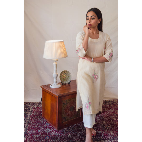 Cream Lily Kurta Set