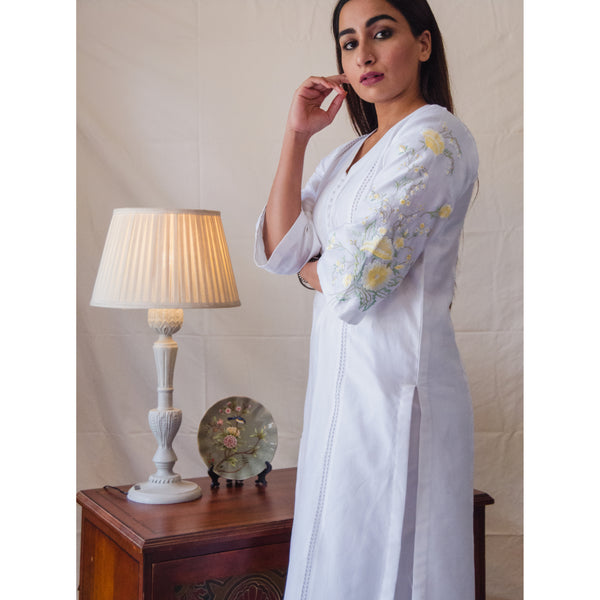 White Buttercup Kurta Set