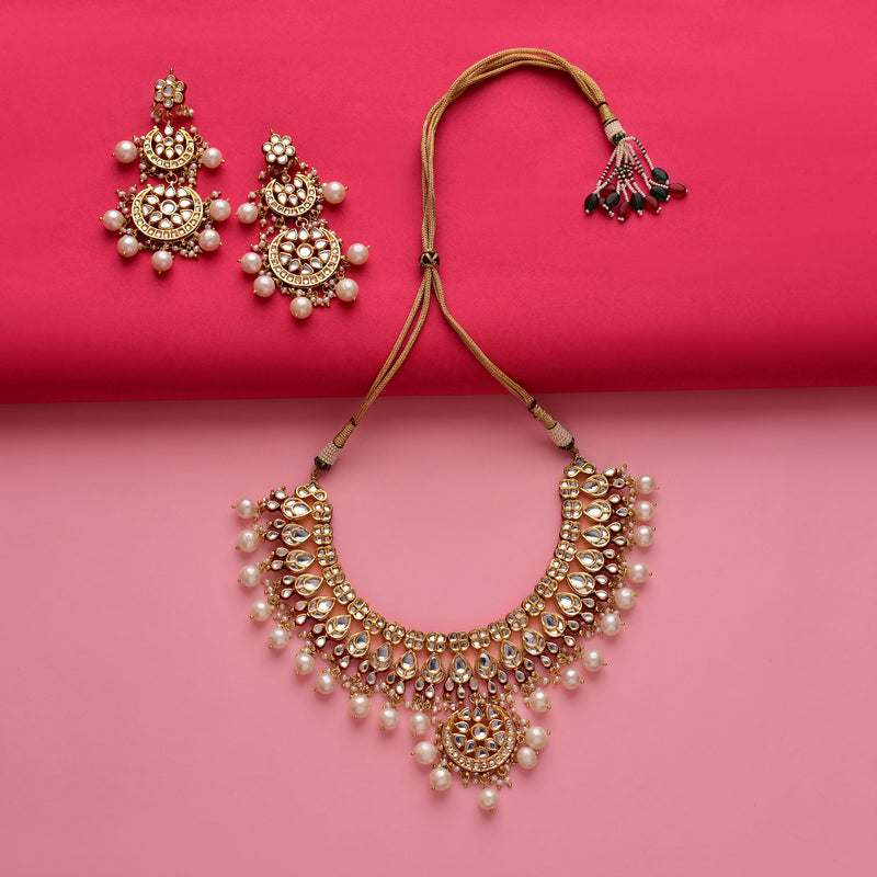 Bold Meenakari Kundan Necklace Set