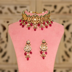 Royal Red Kundan Choker Set
