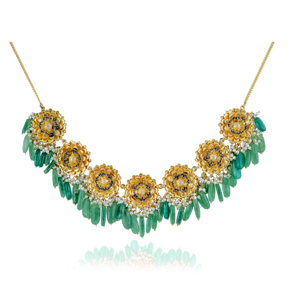 Marigold Necklace - Jade Green