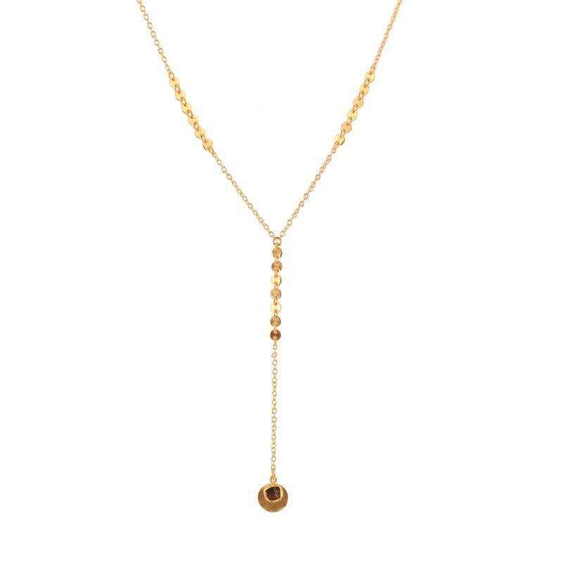 Organic Drops Lariat Necklace