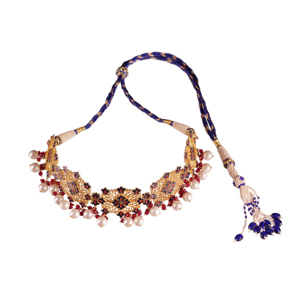 Floral Traces Choker Necklace