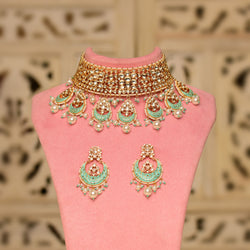Regal Moon Kundan Necklace Set