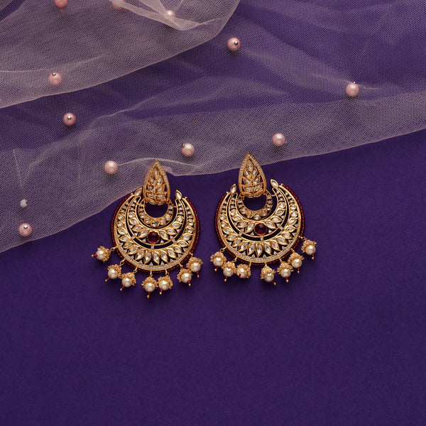 Layered Kundan Chandbalis