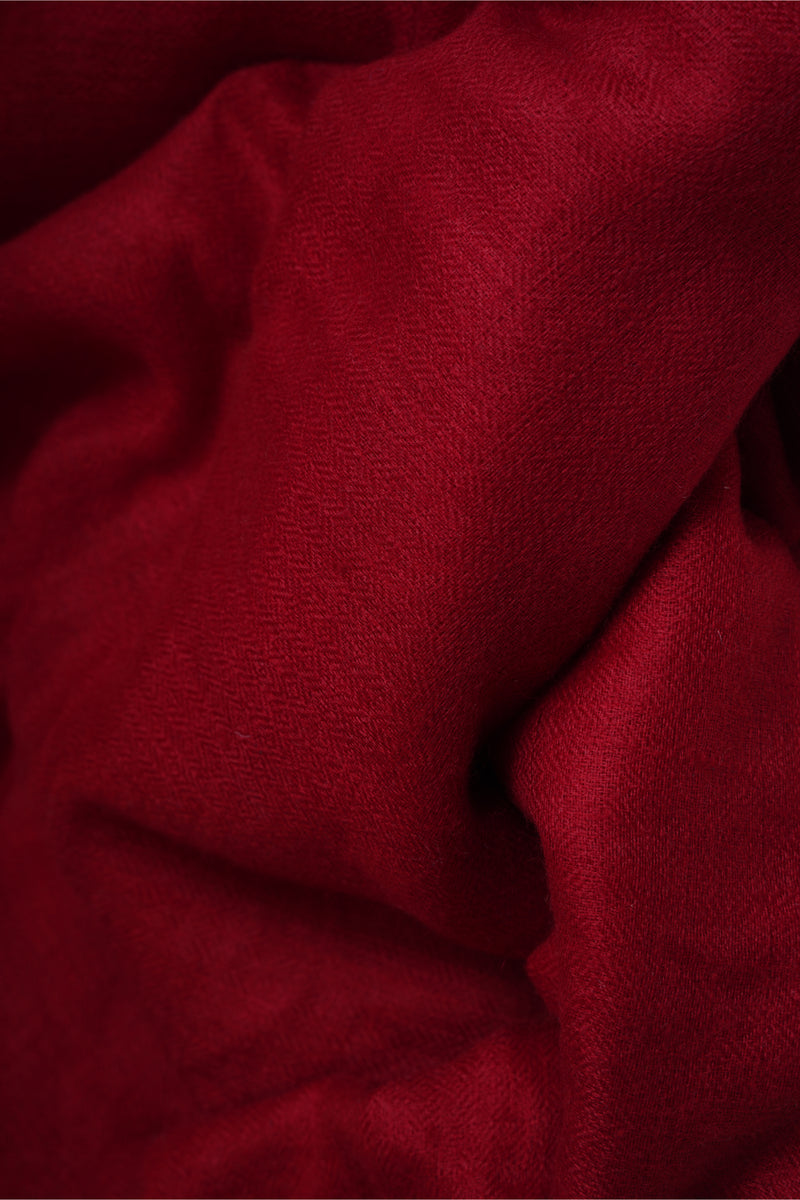 Ruby Red Pashmina Stole