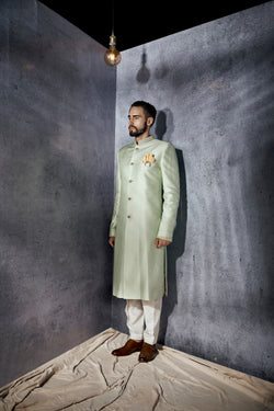 Oscar Mint Sherwani Set