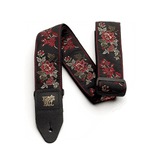 Ernie Ball Red Rose Jacquard Guitar Strap