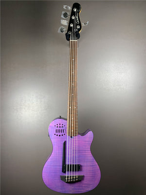 Godin A5 Ultra Fretted LTD (Metallica) Purple Flame