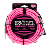 Ernie Ball 10FT Braided Neon Pink Instrument cable Straight to Angle