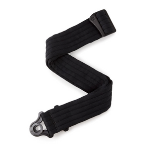 Auto Lock Guitar Strap, Black Padded Stripes