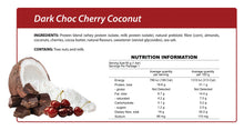 Load image into Gallery viewer, Dark Choc Cherry Coconut Smart Protein Bar
