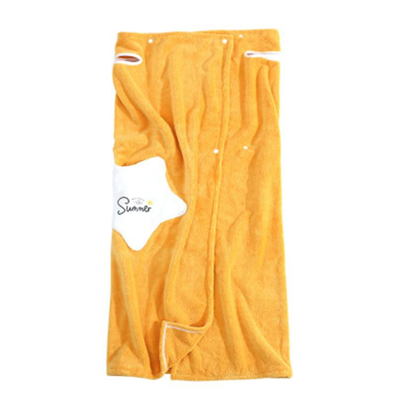 Coral Fleece Wearable Bath Towel