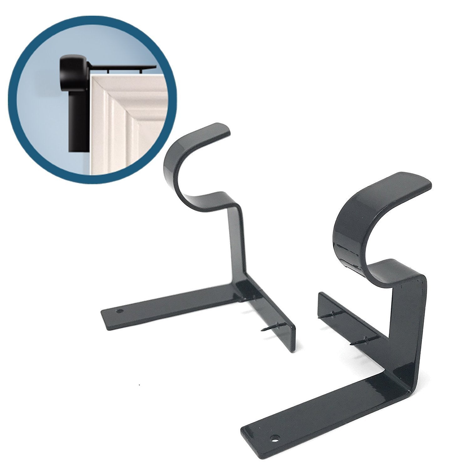 Curtain Rod Brackets(1 Pair)