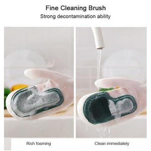 Housework Brush Bowl Shoes Silicone Gloves