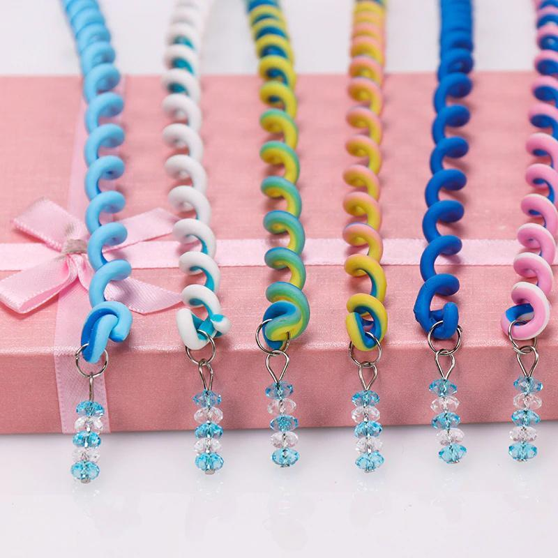 Trendy Pendant Braid Curly Hair Card(6PCS)