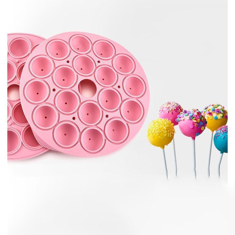 Fashion 18 Holes Silicone Ball Shaped Lollypop Sticks Baking