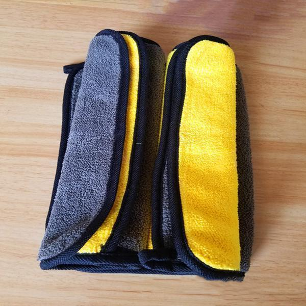 Double-sided Microfiber Absorbent Towel (2 Pcs)