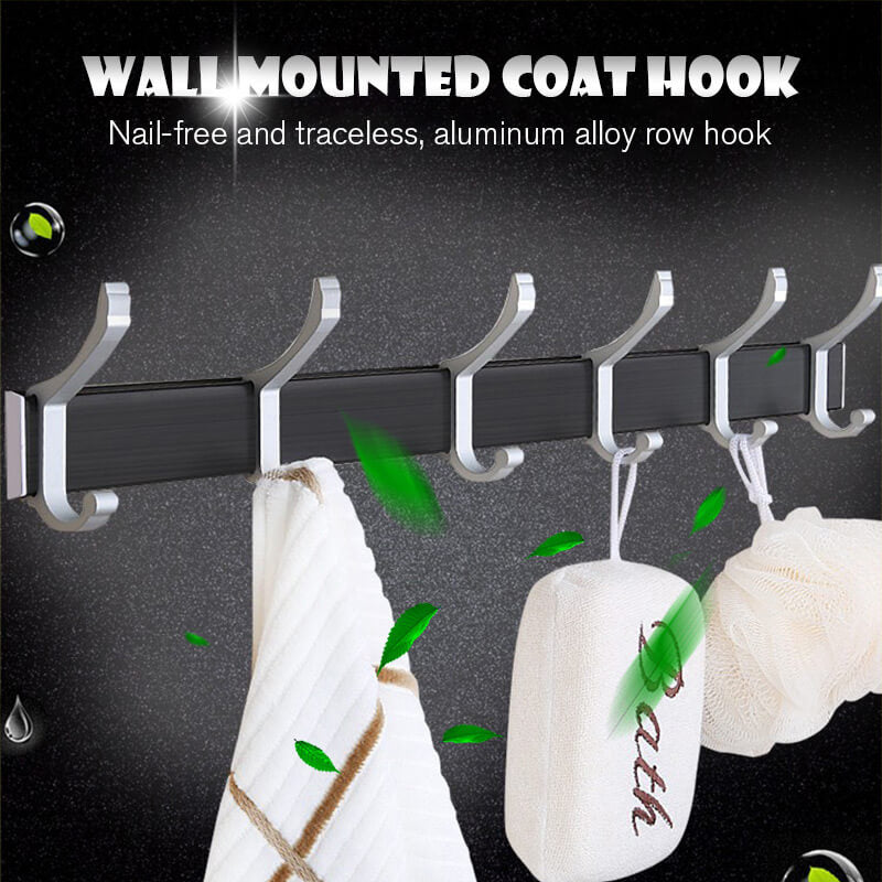 Rack On The Wall Punch Free Clothes Hook