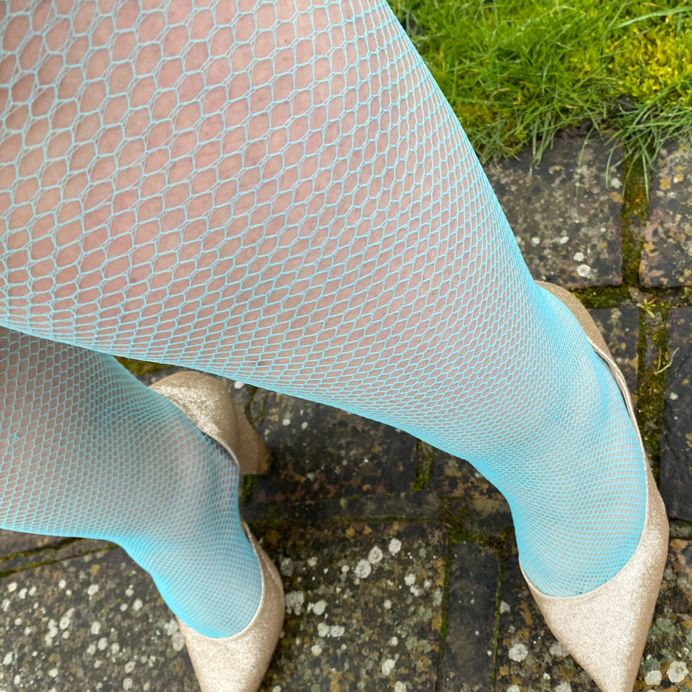 Tights - Fishnets - Blue Hawaiian