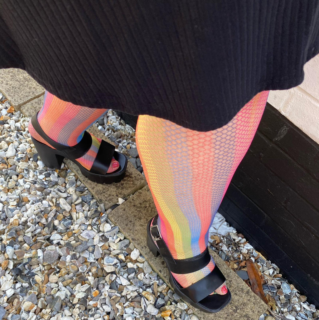 Tights - Fishnets - Rainbow