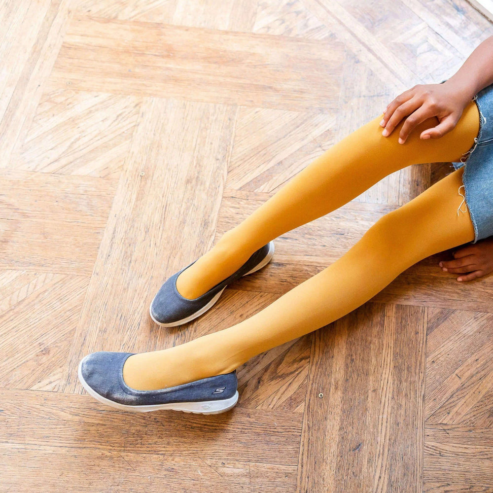 Tights - Kids Tights - Colonel Mustard