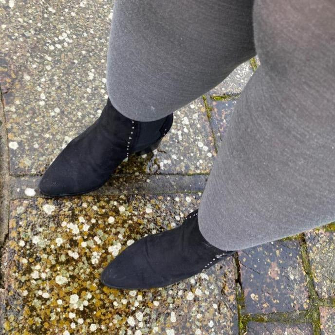 Merino Wool Tights - Silver Lining