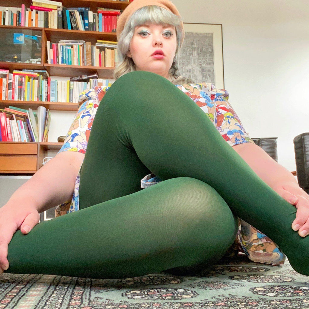 Tights - Opaque Tights - Hit The Bottle Green