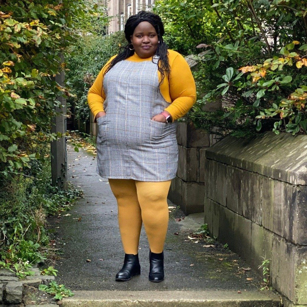 Tights - Super-Opaque Tights - Colonel Mustard