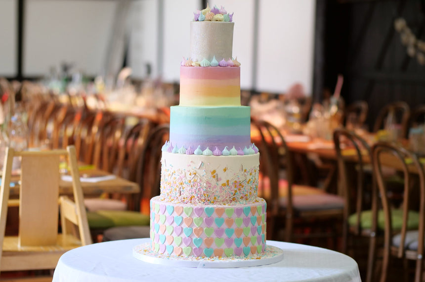 5-TIER WEDDING CAKE