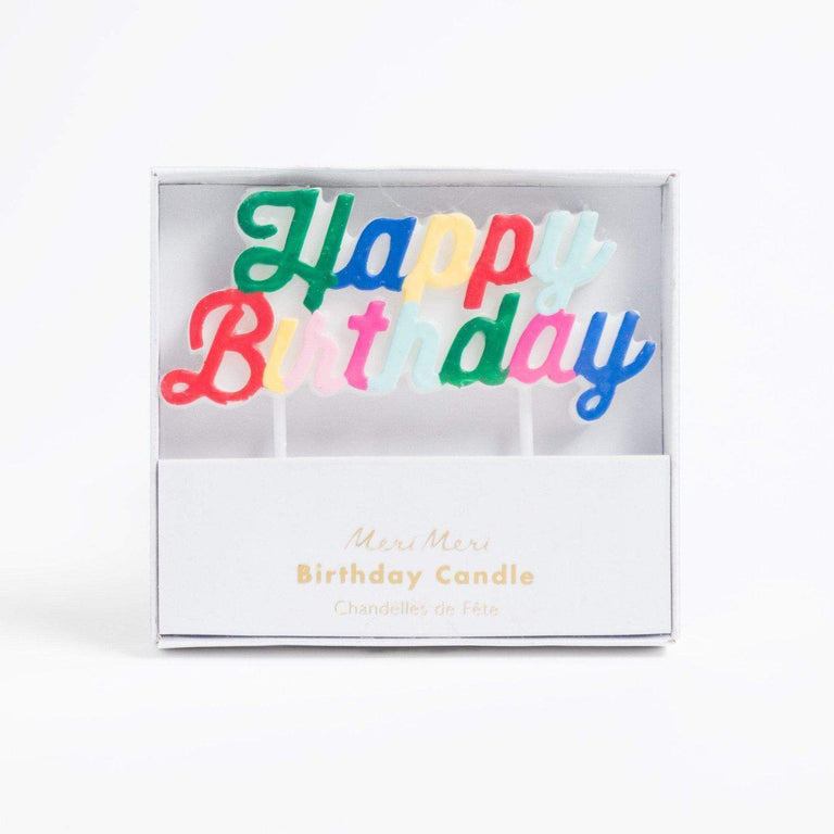 Cupcake Jemma Happy Birthday candle (multi-colour)