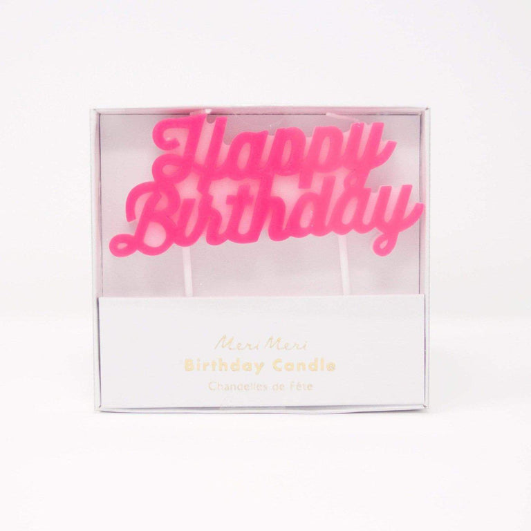 Cupcake Jemma Pink Happy Birthday candle