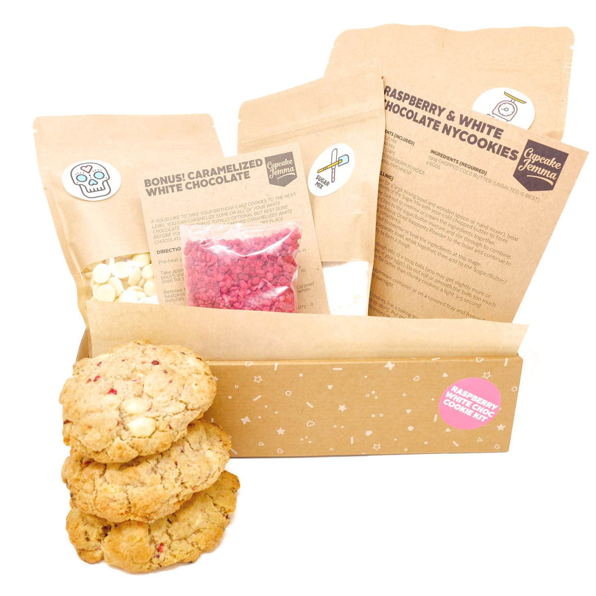 Raspberry White Chocolate New York Cookie Kit