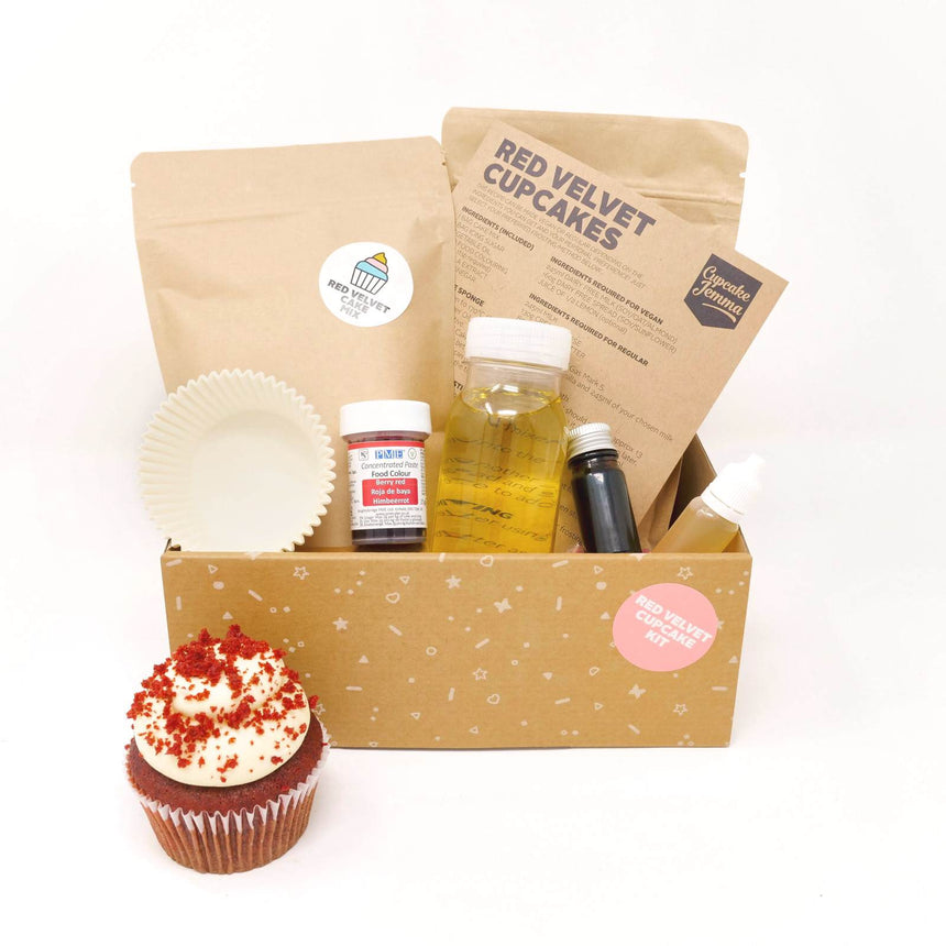Red Velvet Cupcake Baking Kit - no eggs or milk required!