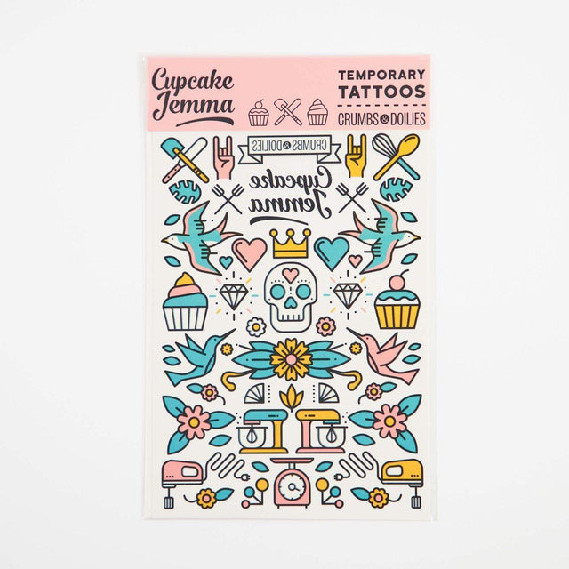Cupcake Jemma Temporary Tattoos