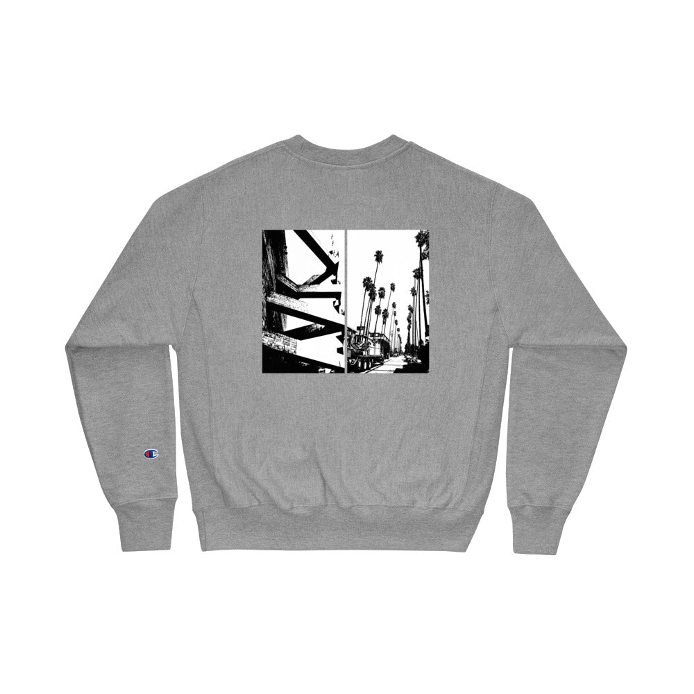 "Champion ""Home?"" Crewneck - Grey - Marroc"