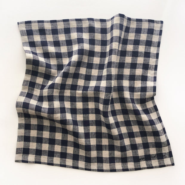 "Midnight Navy Gingham/20"" x 20"""