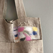 Natural Market Tote / Study in Pastels