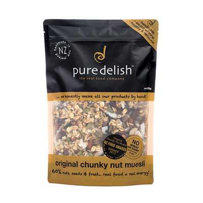 Pure Delish: Original Chunky Nut Muesli