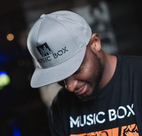 Music Box Grey Snapback Hat