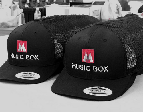 Music Box Black Snapback Hat