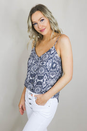 Aiden Snake Print Cami side view