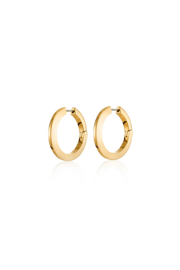 Image of the JENNYBIRD Toni Hinged Hoop Earrings, against white background