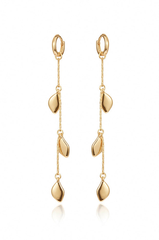 Image of the JENNY BIRD Foli Drop Earrings, against white backdrop