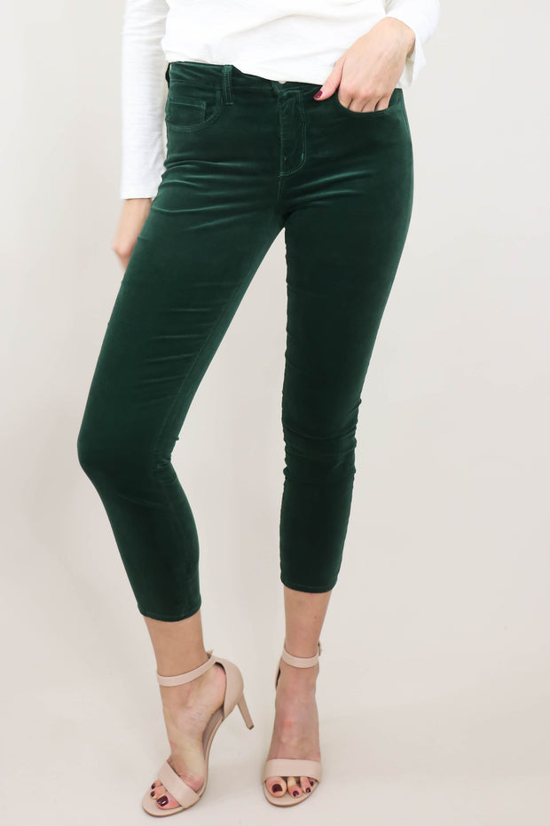 L'AGENCE Margot High Rise Skinny front view, close up