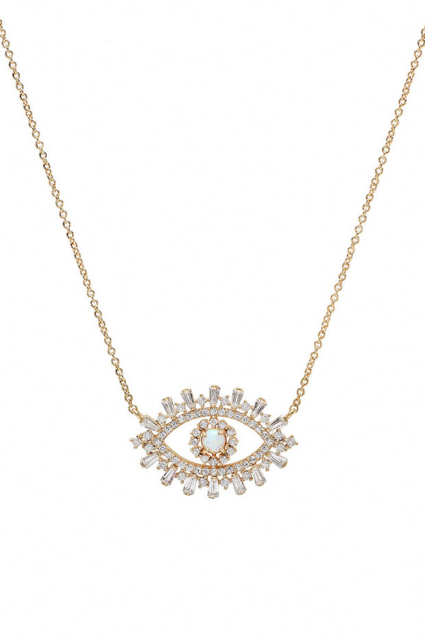 Image of the TAI Evil Eye Necklace against white background