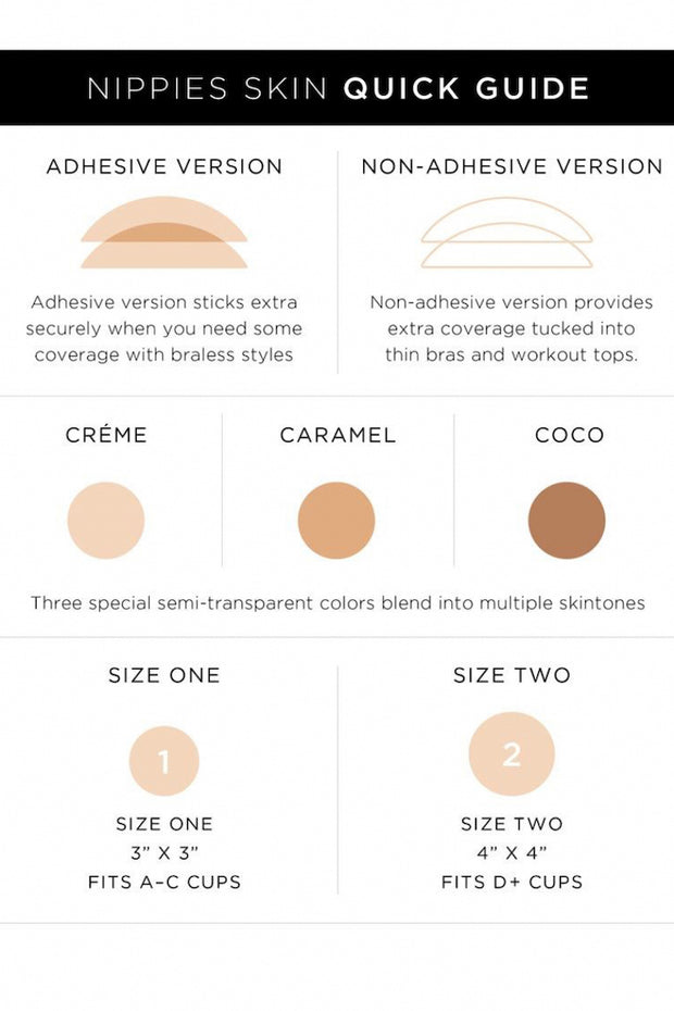 Image of B-SIX Nipple Covers Size Guide