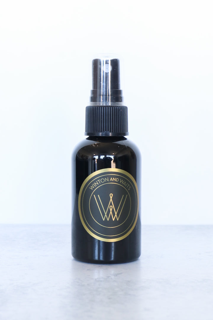 Image of the WINTON AND WAITS Eucalyptus Mint Hand Sanitizer Mist against white backdrop