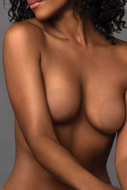 Image of B-SIX Nipple Covers-Size 1 Coco on model against grey background